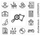 set of 13 simple editable icons ... | Shutterstock .eps vector #1109050391