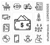 set of 13 simple editable icons ... | Shutterstock .eps vector #1109050505
