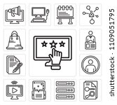 set of 13 simple editable icons ... | Shutterstock .eps vector #1109051795