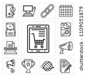 set of 13 simple editable icons ... | Shutterstock .eps vector #1109051879