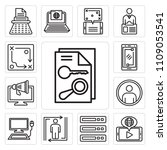 set of 13 simple editable icons ... | Shutterstock .eps vector #1109053541