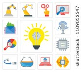 set of 13 simple editable icons ... | Shutterstock .eps vector #1109053547