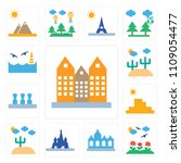 set of 13 simple editable icons ... | Shutterstock .eps vector #1109054477