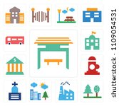 set of 13 simple editable icons ... | Shutterstock .eps vector #1109054531