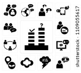 set of 13 simple editable icons ... | Shutterstock .eps vector #1109055617