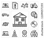 set of 13 simple editable icons ... | Shutterstock .eps vector #1109057255