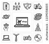 set of 13 simple editable icons ... | Shutterstock .eps vector #1109058005