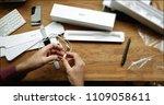 paris  france   apr 12 2018 ... | Shutterstock . vector #1109058611