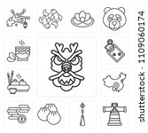 set of 13 simple editable icons ... | Shutterstock .eps vector #1109060174
