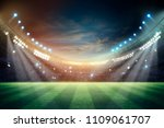 lights at night and stadium 3d... | Shutterstock . vector #1109061707