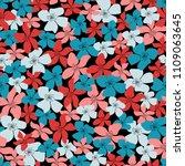 blossom floral seamless pattern....   Shutterstock .eps vector #1109063645