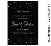 wedding invitation card | Shutterstock .eps vector #1109070467