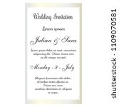 wedding invitation card | Shutterstock .eps vector #1109070581