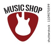 music shop label | Shutterstock .eps vector #1109070599