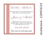 wedding invitation card | Shutterstock .eps vector #1109076119