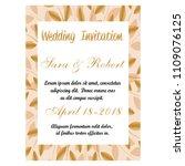 wedding invitation card | Shutterstock .eps vector #1109076125