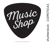 music shop label | Shutterstock .eps vector #1109076161