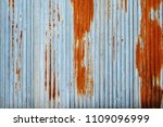 old rusty galvanized iron ... | Shutterstock . vector #1109096999