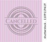 cancelled pink emblem. vintage.   Shutterstock .eps vector #1109119619