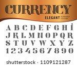vector of elegant alphabet... | Shutterstock .eps vector #1109121287