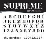 vector of elegant alphabet... | Shutterstock .eps vector #1109121317