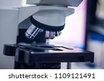 microscope  in medical lab   Shutterstock . vector #1109121491