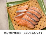 salmon with black pepper and... | Shutterstock . vector #1109127251