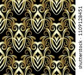 embroidery floral gold 3d...   Shutterstock .eps vector #1109128451