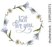 wildflower daisy. floral... | Shutterstock . vector #1109133371
