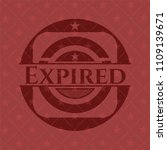 expired realistic red emblem | Shutterstock .eps vector #1109139671