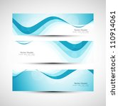 abstract header line blue wave... | Shutterstock .eps vector #110914061