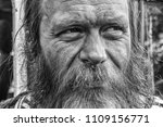 Happy Homeless Beared Old Man...