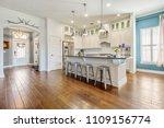 Stock photo updated new kitchen interior design remodel 1109156774