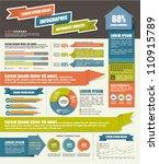 vector set of infographic... | Shutterstock .eps vector #110915789