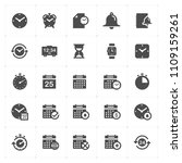icon set   time and schedule...   Shutterstock .eps vector #1109159261