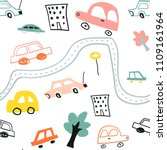 seamless pattern with cute... | Shutterstock .eps vector #1109161964