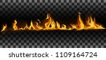 realistic fire flames. flame... | Shutterstock .eps vector #1109164724
