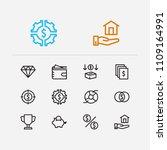 economy icons set. investment...