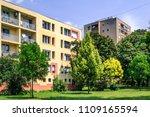 apartment block in a... | Shutterstock . vector #1109165594