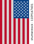 4th of july stars and stripes... | Shutterstock .eps vector #1109167601