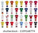 set of t shirts and flags of... | Shutterstock .eps vector #1109168774