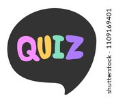 quiz. sticker for social media... | Shutterstock .eps vector #1109169401