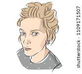 woman's female portrait... | Shutterstock .eps vector #1109171507