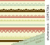 set of hand drawn lace paper... | Shutterstock .eps vector #110917361