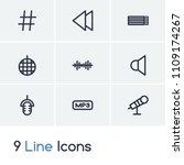 audio icon set and backward...