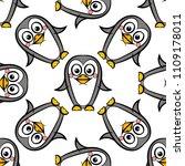 vector seamless pattern of... | Shutterstock .eps vector #1109178011