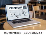 content marketing content data... | Shutterstock . vector #1109183255