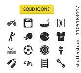 exercise icons set with push...