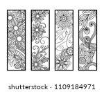 set of four bookmarks in black...   Shutterstock .eps vector #1109184971