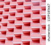 balconies. geometry. pink...   Shutterstock . vector #1109185667